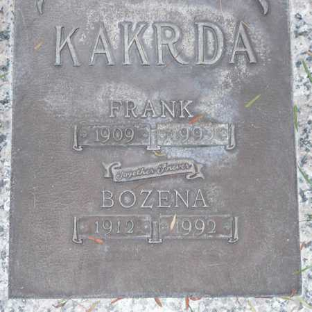 KAKRDA, BOZENA - Maricopa County, Arizona | BOZENA KAKRDA - Arizona Gravestone Photos