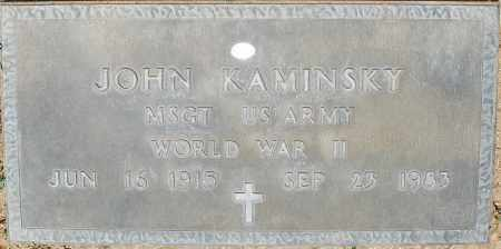 KAMINSKY, JOHN - Maricopa County, Arizona | JOHN KAMINSKY - Arizona Gravestone Photos