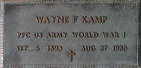 KAMP, WAYNE F. - Maricopa County, Arizona | WAYNE F. KAMP - Arizona Gravestone Photos