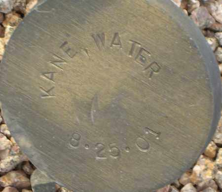 KANE, WATER - Maricopa County, Arizona | WATER KANE - Arizona Gravestone Photos