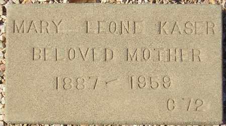 KASER, MARY LEONE - Maricopa County, Arizona | MARY LEONE KASER - Arizona Gravestone Photos