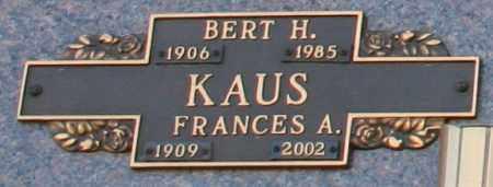 KAUS, BERT H - Maricopa County, Arizona | BERT H KAUS - Arizona Gravestone Photos