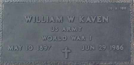 KAVEN, WILLIAM W. - Maricopa County, Arizona   WILLIAM W. KAVEN - Arizona Gravestone Photos