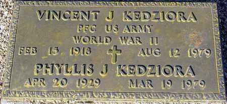 KEDZIORA, VINCENT J. - Maricopa County, Arizona | VINCENT J. KEDZIORA - Arizona Gravestone Photos