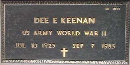 KEENAN, DEE E. - Maricopa County, Arizona | DEE E. KEENAN - Arizona Gravestone Photos