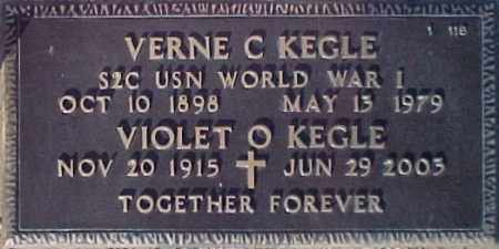 KEGLE, VIOLET O. - Maricopa County, Arizona | VIOLET O. KEGLE - Arizona Gravestone Photos