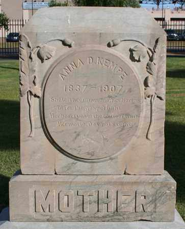 KEMPE, ANNA D - Maricopa County, Arizona | ANNA D KEMPE - Arizona Gravestone Photos