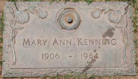 KENNING, MARY ANN - Maricopa County, Arizona   MARY ANN KENNING - Arizona Gravestone Photos