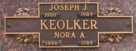 KEOLKER, NORA A - Maricopa County, Arizona | NORA A KEOLKER - Arizona Gravestone Photos
