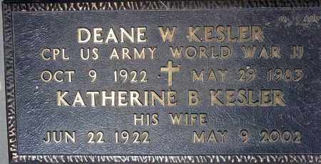 KESLER, DEANE W. - Maricopa County, Arizona | DEANE W. KESLER - Arizona Gravestone Photos