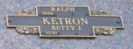 KETRON, BETTY J - Maricopa County, Arizona   BETTY J KETRON - Arizona Gravestone Photos