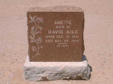 KILE, ANNETTIE - Maricopa County, Arizona | ANNETTIE KILE - Arizona Gravestone Photos