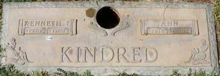 KINDRED, ANN - Maricopa County, Arizona | ANN KINDRED - Arizona Gravestone Photos
