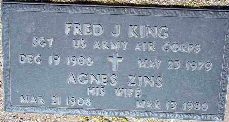 KING, AGNES ZINS - Maricopa County, Arizona | AGNES ZINS KING - Arizona Gravestone Photos