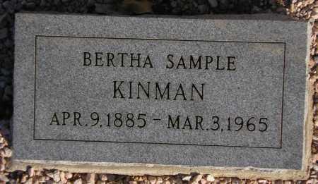 KINMAN, BERTHA SAMPLE - Maricopa County, Arizona | BERTHA SAMPLE KINMAN - Arizona Gravestone Photos