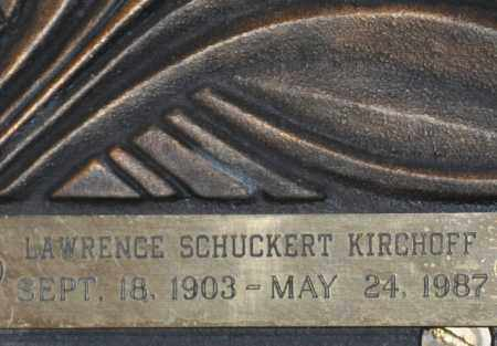 KIRCHOFF, LAWRENCE SCHUCKERT - Maricopa County, Arizona | LAWRENCE SCHUCKERT KIRCHOFF - Arizona Gravestone Photos