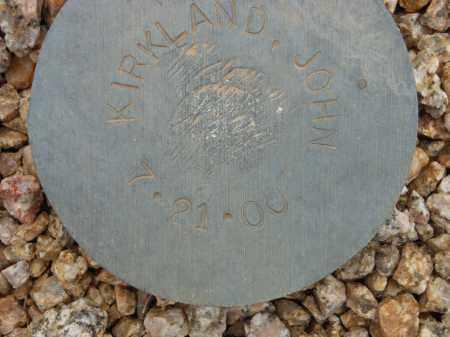 KIRKLAND, JOHN - Maricopa County, Arizona | JOHN KIRKLAND - Arizona Gravestone Photos