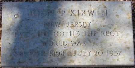 KIRWIN, JOHN P. - Maricopa County, Arizona | JOHN P. KIRWIN - Arizona Gravestone Photos