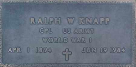KNAPP, RALPH W - Maricopa County, Arizona | RALPH W KNAPP - Arizona Gravestone Photos
