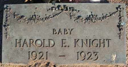KNIGHT, HAROLD E. - Maricopa County, Arizona | HAROLD E. KNIGHT - Arizona Gravestone Photos