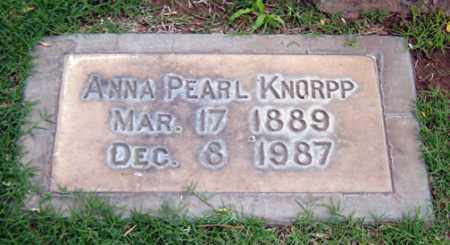 KNORPP, ANNA PEARL - Maricopa County, Arizona | ANNA PEARL KNORPP - Arizona Gravestone Photos