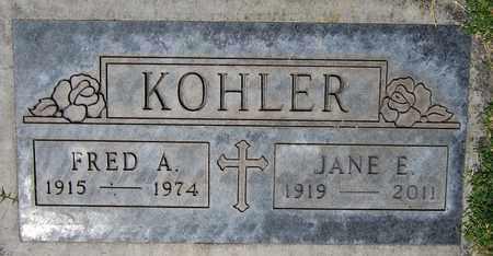KOHLER, FRED A. - Maricopa County, Arizona | FRED A. KOHLER - Arizona Gravestone Photos