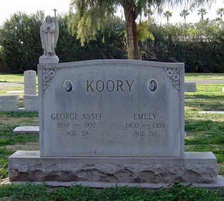 KOORY, EMELY - Maricopa County, Arizona | EMELY KOORY - Arizona Gravestone Photos