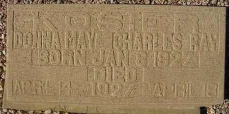 KOSIER, DONNA MAY - Maricopa County, Arizona | DONNA MAY KOSIER - Arizona Gravestone Photos
