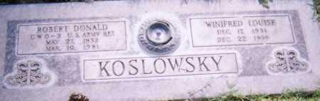 KOSLOWSKY, WINIFRED LOUISE - Maricopa County, Arizona | WINIFRED LOUISE KOSLOWSKY - Arizona Gravestone Photos