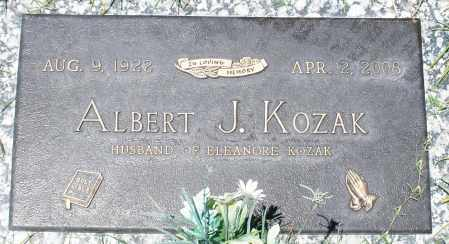 KOZAK, ALBERT J. - Maricopa County, Arizona | ALBERT J. KOZAK - Arizona Gravestone Photos
