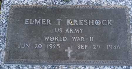 KRESHOCK, ELMER T. - Maricopa County, Arizona | ELMER T. KRESHOCK - Arizona Gravestone Photos