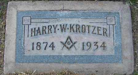 KROTZER, HARRY WHALING - Maricopa County, Arizona | HARRY WHALING KROTZER - Arizona Gravestone Photos