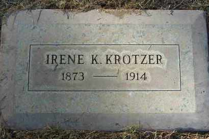 KROTZER, IRENE - Maricopa County, Arizona | IRENE KROTZER - Arizona Gravestone Photos