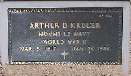 KRUGER, ARTHUR D. - Maricopa County, Arizona | ARTHUR D. KRUGER - Arizona Gravestone Photos