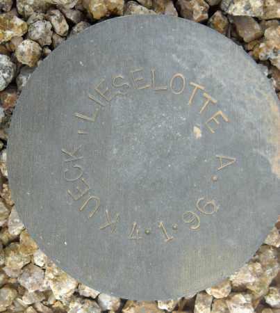 KUECK, LIESELOTTE A. - Maricopa County, Arizona | LIESELOTTE A. KUECK - Arizona Gravestone Photos