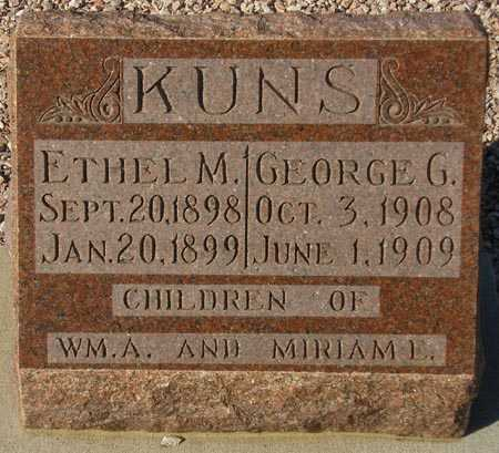 KUNS, ETHEL M. - Maricopa County, Arizona | ETHEL M. KUNS - Arizona Gravestone Photos
