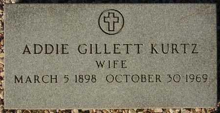 KURTZ, ADDIE GILLETT - Maricopa County, Arizona | ADDIE GILLETT KURTZ - Arizona Gravestone Photos