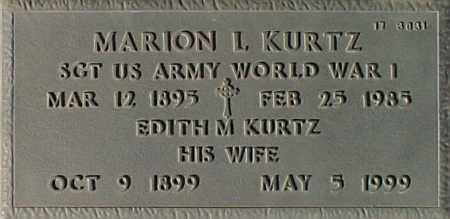 KURTZ, MARION L. - Maricopa County, Arizona | MARION L. KURTZ - Arizona Gravestone Photos
