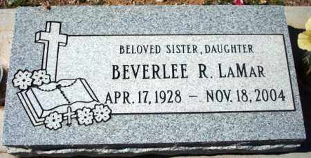 LAMAR, BEVERLEE (BEVERLY) RUTH - Maricopa County, Arizona | BEVERLEE (BEVERLY) RUTH LAMAR - Arizona Gravestone Photos