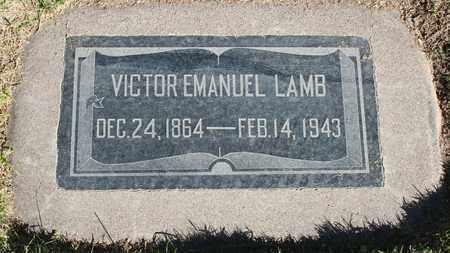 LAMB, VICTOR EMANUEL - Maricopa County, Arizona   VICTOR EMANUEL LAMB - Arizona Gravestone Photos