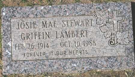LAMBERT, JOSIE MAE STEWART GRIFFIN - Maricopa County, Arizona | JOSIE MAE STEWART GRIFFIN LAMBERT - Arizona Gravestone Photos
