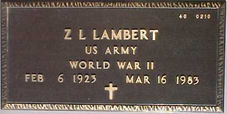 LAMBERT, Z. L. - Maricopa County, Arizona | Z. L. LAMBERT - Arizona Gravestone Photos