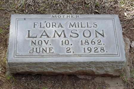 MILLS LAMSON, FLORA - Maricopa County, Arizona | FLORA MILLS LAMSON - Arizona Gravestone Photos