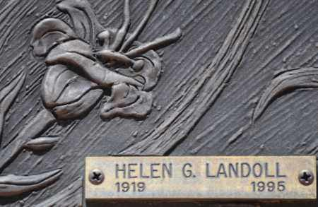 LANDOLL, HELEN G. - Maricopa County, Arizona | HELEN G. LANDOLL - Arizona Gravestone Photos