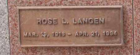 LANGEN, ROSE L. - Maricopa County, Arizona | ROSE L. LANGEN - Arizona Gravestone Photos