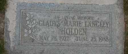 LANGLEY, GLADYS MARIE - Maricopa County, Arizona | GLADYS MARIE LANGLEY - Arizona Gravestone Photos