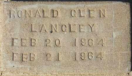 LANGLEY, RONALD GLEN - Maricopa County, Arizona | RONALD GLEN LANGLEY - Arizona Gravestone Photos