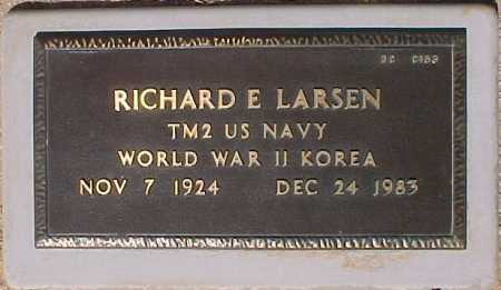LARSEN, RICHARD E - Maricopa County, Arizona | RICHARD E LARSEN - Arizona Gravestone Photos