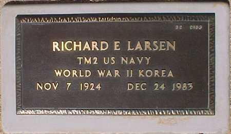LARSEN, RICHARD E - Maricopa County, Arizona | RICHARD E LARSEN - Arizona Gravestone Photos