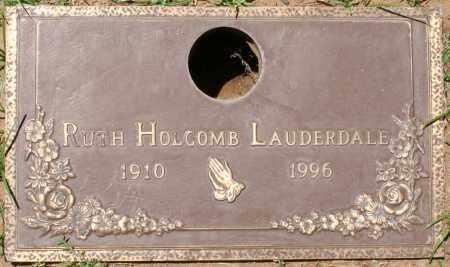LAUDERDALE, RUTH HOLCOMB - Maricopa County, Arizona | RUTH HOLCOMB LAUDERDALE - Arizona Gravestone Photos